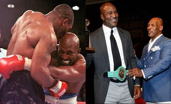 """بعد عودة """"قاضم أذنه"""" إلى حلبات الملاكمة.. هوليفيلد يتحدى تايسون من جديد"""