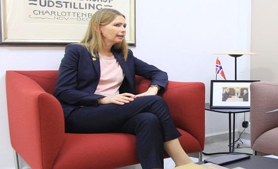 السفيرة النرويجية: الأردن شريك مهم لتعزيز الاستقرار في الشرق الأوسط