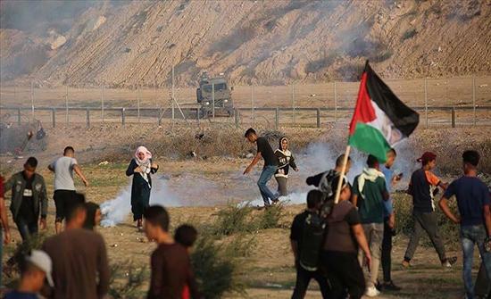 """بالفيديو : بعد توقف 3 أسابيع.. استئناف مسيرات """"العودة وكسر الحصار"""" بغزة"""