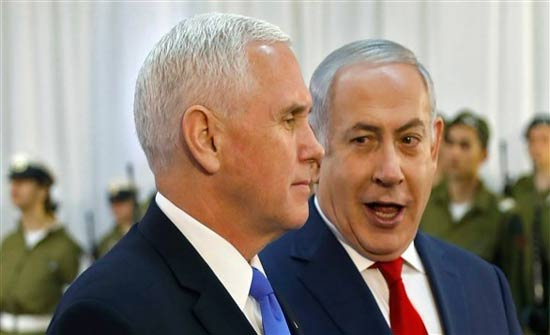 """بنس: شرف عظيم التواجد في القدس """"عاصمة إسرائيل"""""""