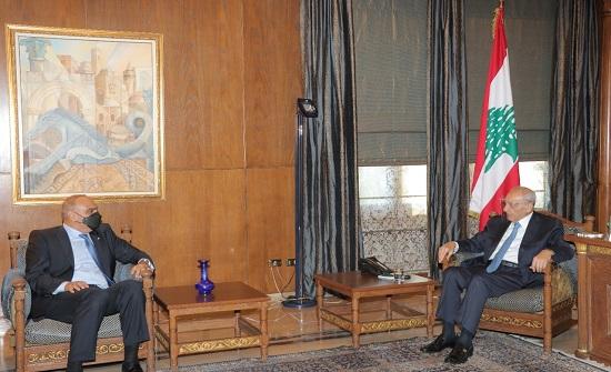 رئيس الوزراء يلتقي رئيس مجلس النواب اللبناني