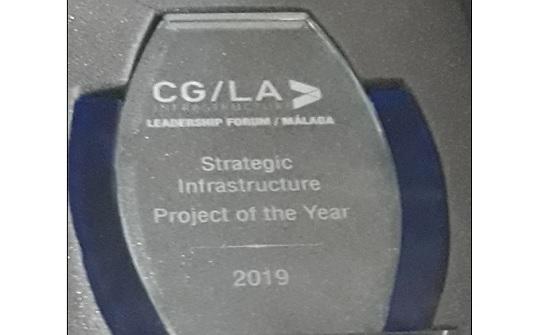 مشروع الناقل الوطني يفوز بجائزة افضل مشروع استراتيجي عالمي لعام 2019