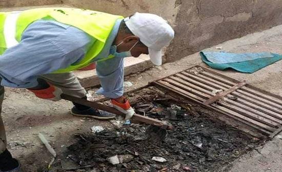 بلدية الزرقاء تنفذ حملة واسعة لتنظيف شبكات تصريف مياه الأمطار