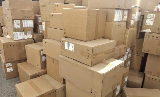 احباط تهريب حاوية تحتوي على كميات كبيرة من البضائع