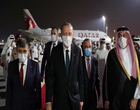 الرئيس أردوغان ينهي زيارته لقطر