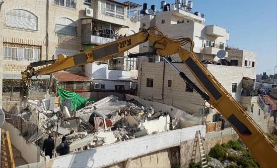 الاحتلال يهدم منزلا في القدس المحتلة