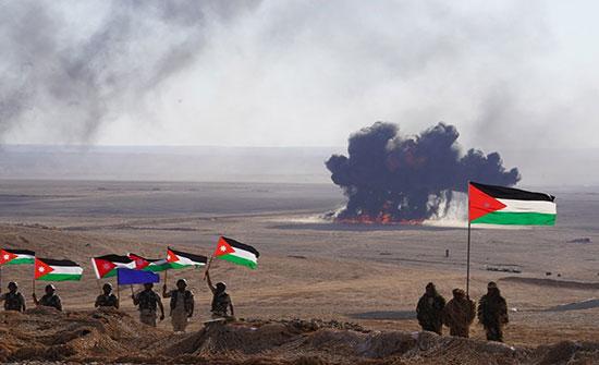 بالصور : تمرين عسكري أردني يحاكي التصدي لغزو إسرائيلي