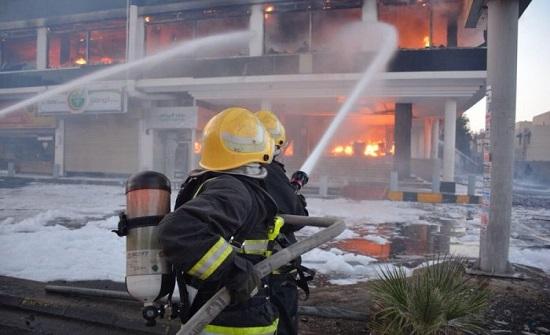 اصابتان بحريق في اربد