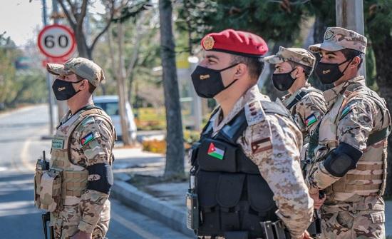 انتشار القوات المسلحة على داخل محافظات الأردن وخارجها
