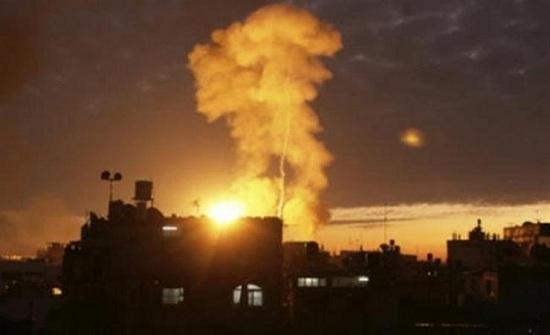 قوات الاحتلال الاسرائيلي تقصف مرصدا شرق رفح جنوب غزة