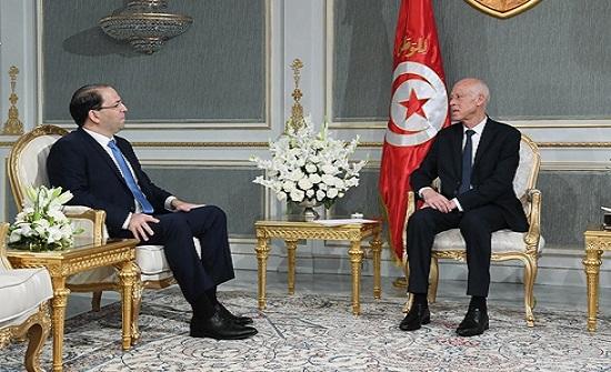 سعيّد يبحث مع الشاهد ورؤساء الأحزاب المستجدات التونسية