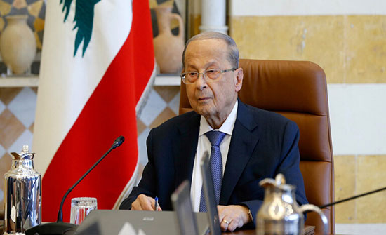 الرئيس اللبناني يناقش مع الحكومة والبرلمان تطورات الاوضاع وقانون قيصر