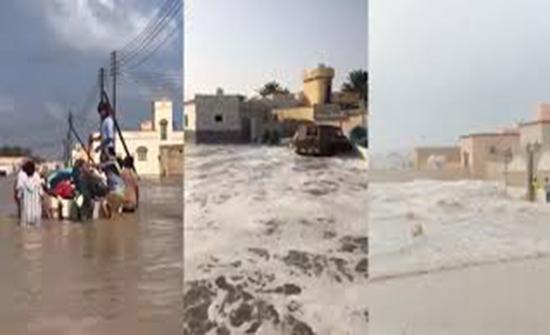 فيديو : مشاهد من تأثير إعصار كيار على سلطنة عمان