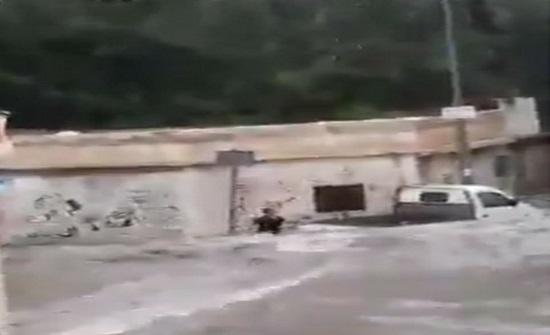 بالفيديو.. لحظة جرف السيول لطفل في الطائف