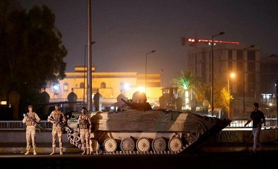 القوات العراقية تنشر دبابات في بعض شوارع بغداد .. بالفيديو