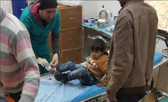 """سقوط جرحى إثر قصف """"ب ي د"""" الإرهابي لسوق بأعزاز السورية"""