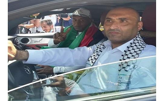"""""""فلسطين النيابية"""" تستقبل الأسير أبو جابر"""