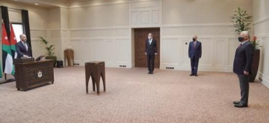 العضايلة يؤدي اليمين القانونية أمام الملك، بتعيينه سفيراً للأردن لدى مصر