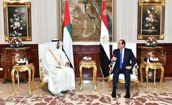 محمد بن زايد والسيسي يؤكدان على التنسيق لحماية الأمن العربي