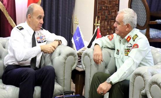الحنيطي يستقبل قائد القيادة التحويلية في الناتو