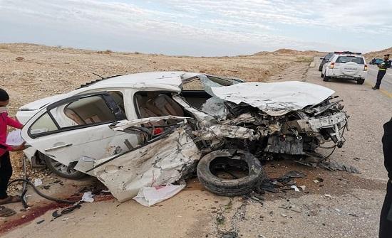 صور :  وفاة شخص اثر حادث سير