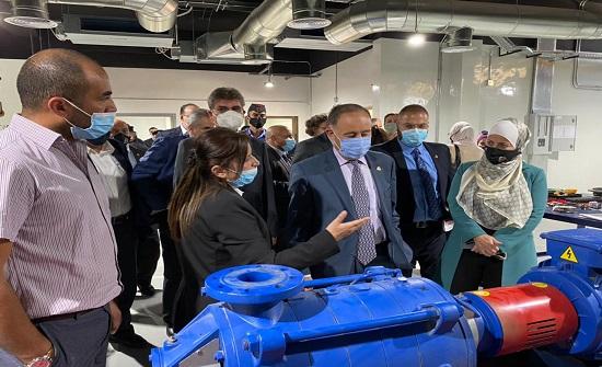 وزير المياه والسفير الالماني يفتتحان مركز التدريب المائي الاقليمي الحديث