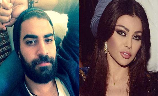 """ِبالصور : محمد وزيري يتغزّلُ بهيفاء وهبي ويؤكّد علاقتهما بـ """"أحببتك""""!"""