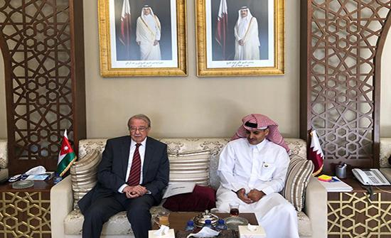الطباع يطلع السفير القطري على نتائج اجتماعات مجلس الأعمال الأردني – القطري