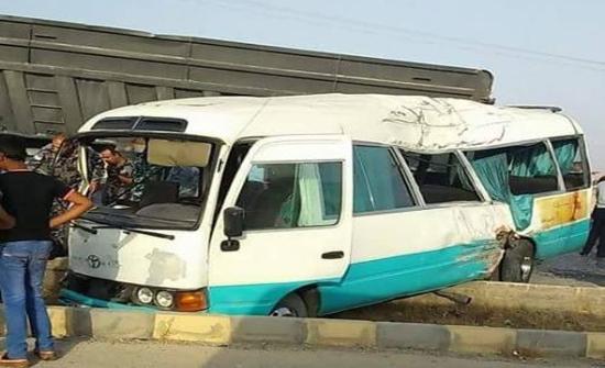 26 اصابة بحادث تصادم حافلتين في الضليل