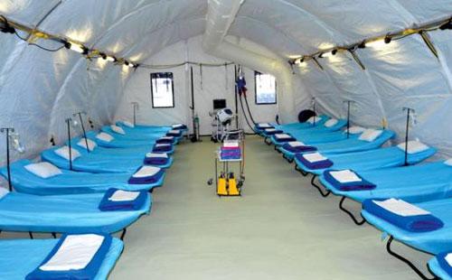 معان: البدء بإنشاء مستشفى ميداني لإصابات كورونا