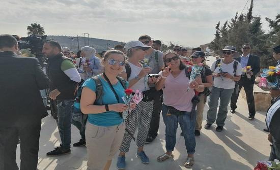 4500 سائح يزورون مدينة جرش الأثرية خلال الأيام الثلاثة الماضية