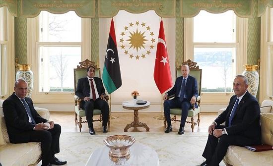 أردوغان يلتقي رئيس المجلس الرئاسي الليبي في إسطنبول