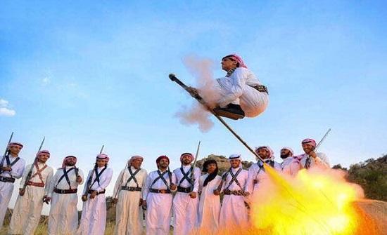 اصابة 7 سعوديين في حفل زفاف بسبب رقصة التعشير