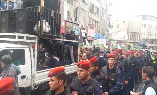 صور :   مسيرة حاشدة  في وسط البلد ضد الاحتلال الإسرائيلي