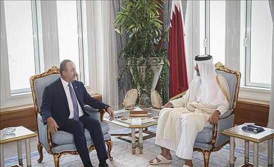 أمير قطر يلتقي وزير الخارجية التركي في الدوحة