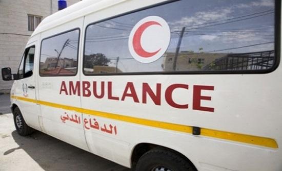 11 إصابة اثر حادث تصادم في الكرك