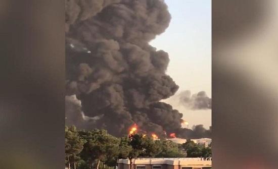 وسائل إعلام إيرانية: حريق مصفاة طهران مستمر وانفجار خزان