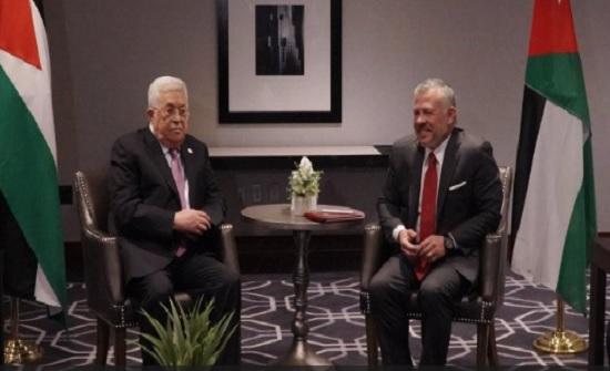 الملك لعباس في نيويورك : الأردن يقف بكل إمكاناته وراء الأشقاء الفلسطينيين