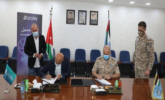 اتفاقية تعاون بين قيادة سلاح الجو الملكي وشركة زين
