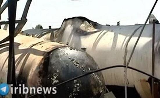 آثار الانفجار الذي وقع في خزان للغاز وهز إيران أمس - فيديو