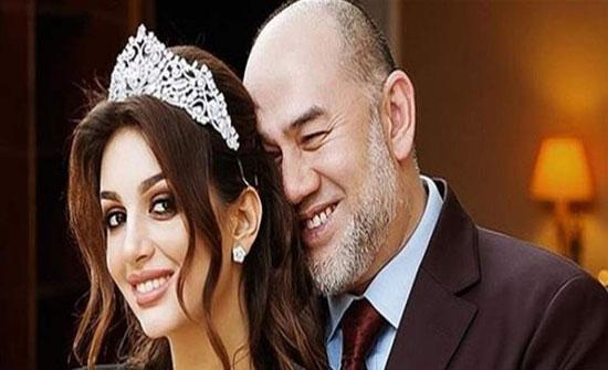 ملك ماليزيا يخرج عن صمته بشأن تطليقه ملكة جمال روسيا