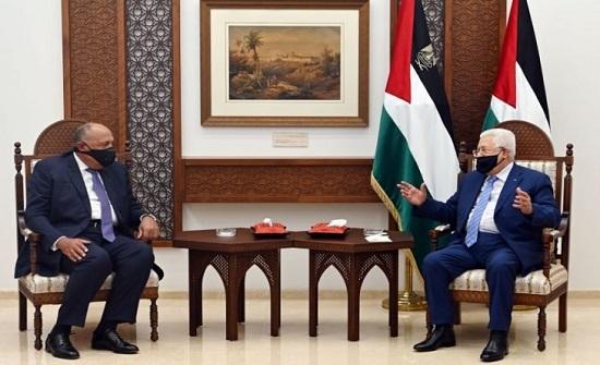 وزير الخارجية المصري يصل رام الله للقاء الرئيس الفلسطيني