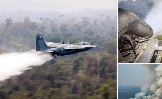 بالفيديو: طائرات حربية تكافح حرائق الأمازون