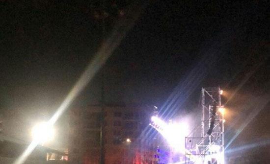 """بالفيديو : إطلاق قذائف صاروخية على مستوطنات """"غلاف غزة"""""""