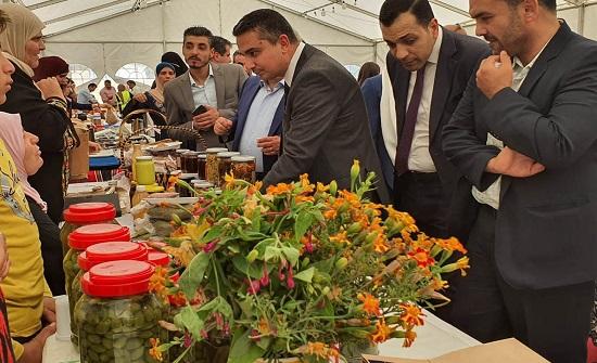 افتتاح البازار الزراعي السنوي للخضار والفواكه لصغار المزارعين