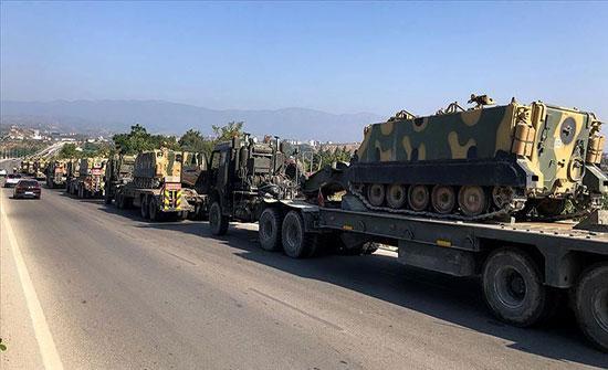 تعزيزات عسكرية جديدة للقوات التركية على الحدود السورية