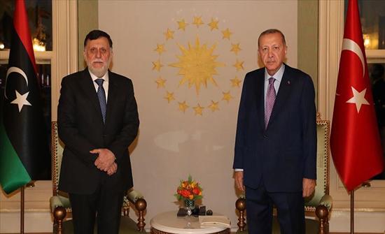 الرئيس أردوغان يستقبل السراج في إسطنبول