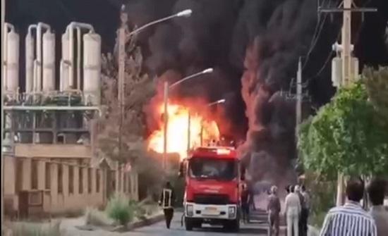 اندلاع حريق في مصنع للكيماويات في إيران بالقرب من قم