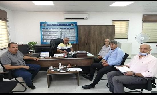 مدير شركة مياه اليرموك يطلع على الوضع المائي في عجلون