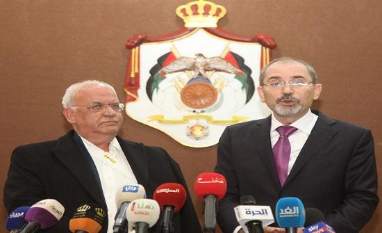الصفدي وعريقات يبحثان التطورات المرتبطة بالقضية الفلسطينية